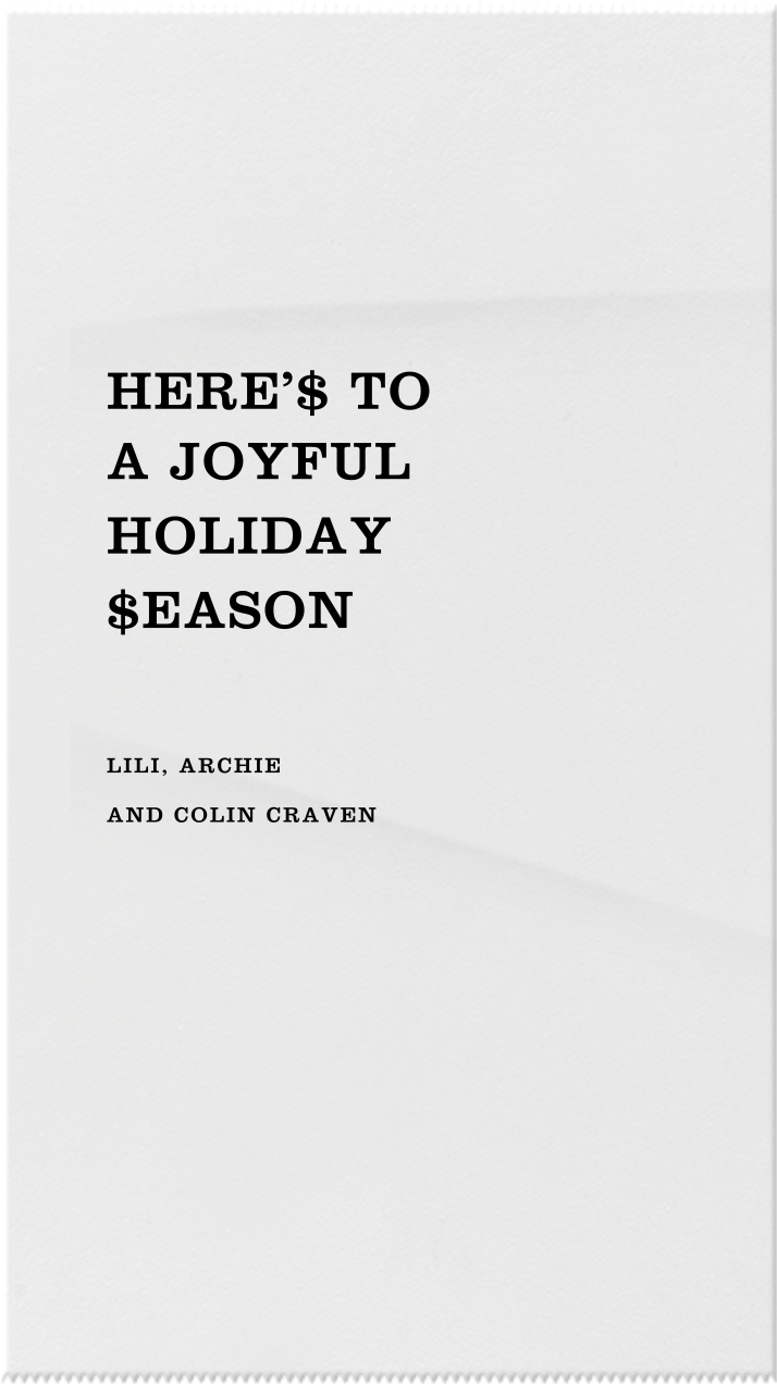 Gifts for the Magi - Paperless Post - Holiday cards - card back