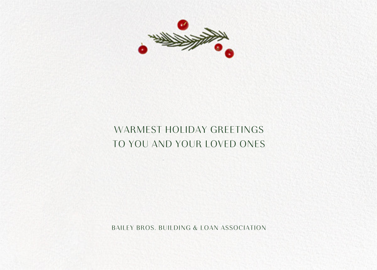 Holly Potpourri - Paperless Post - Company holiday cards - card back