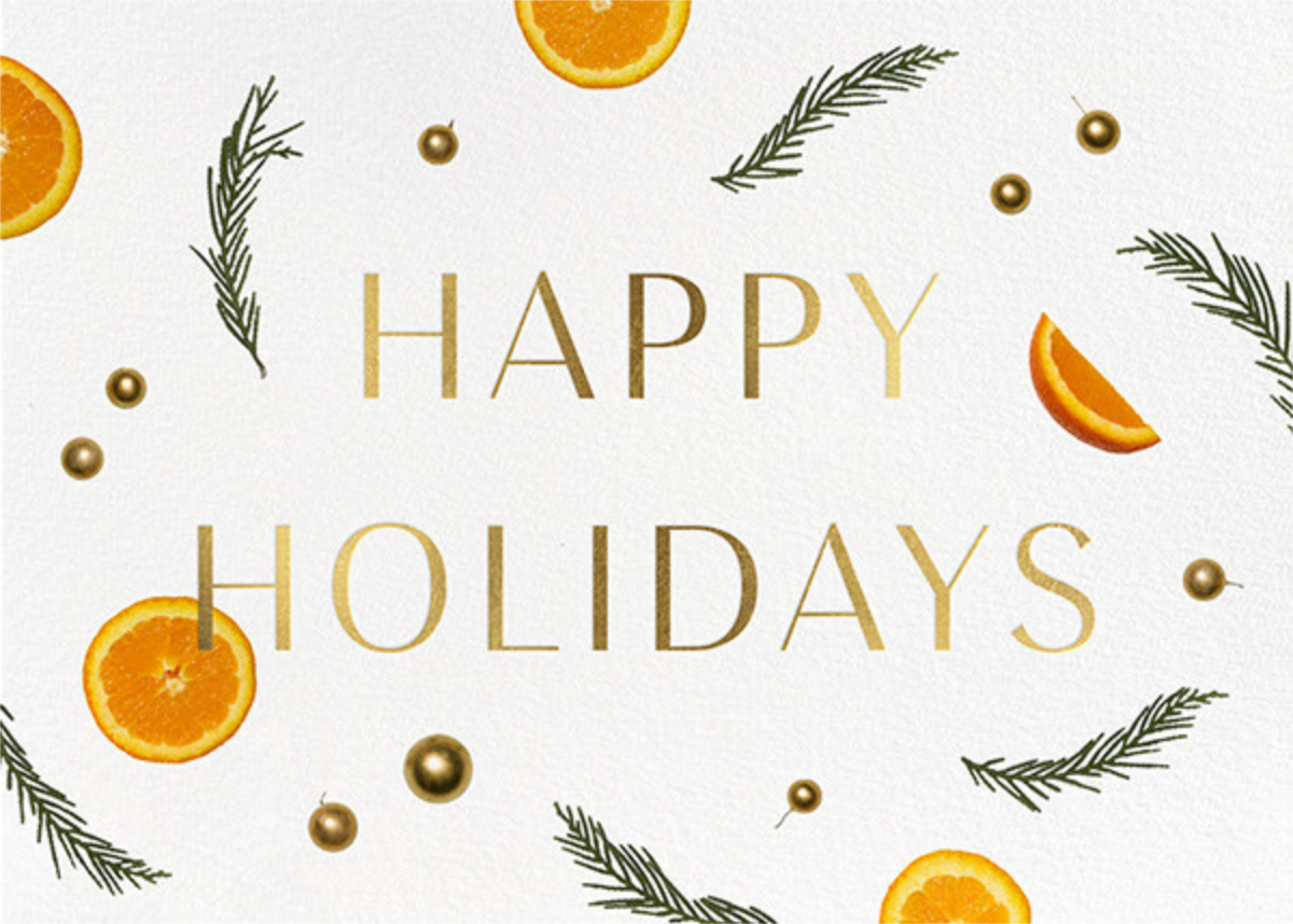 Orange Potpourri - Paperless Post - Business holiday cards
