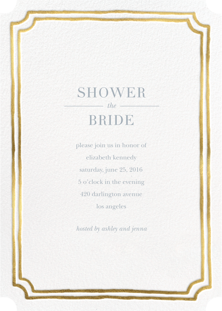Roosevelt - Gold - Sugar Paper - Bridal shower