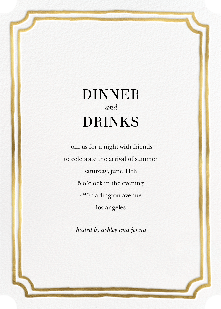 Roosevelt - Gold - Sugar Paper - Dinner party