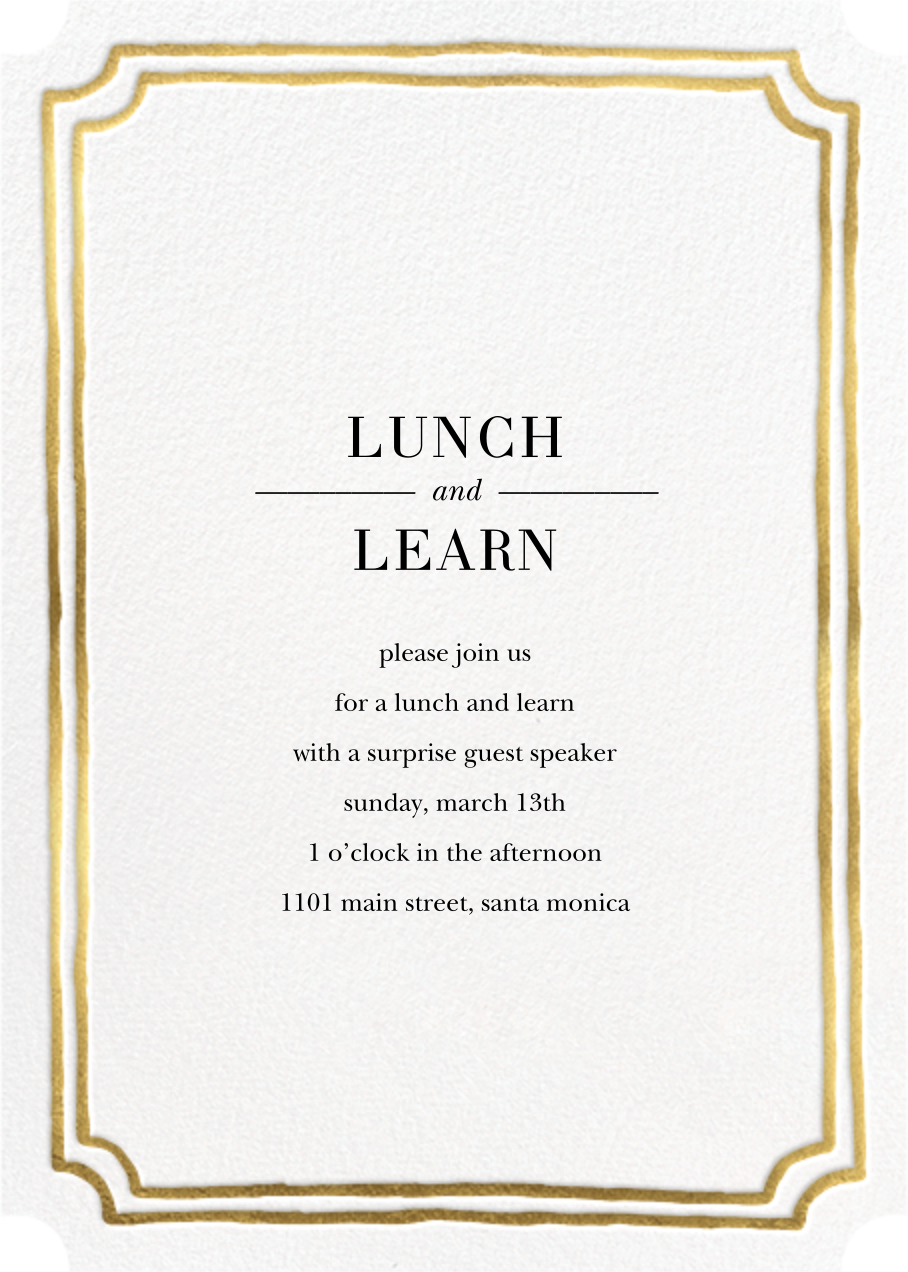Roosevelt - Gold - Sugar Paper - Dinner and luncheon