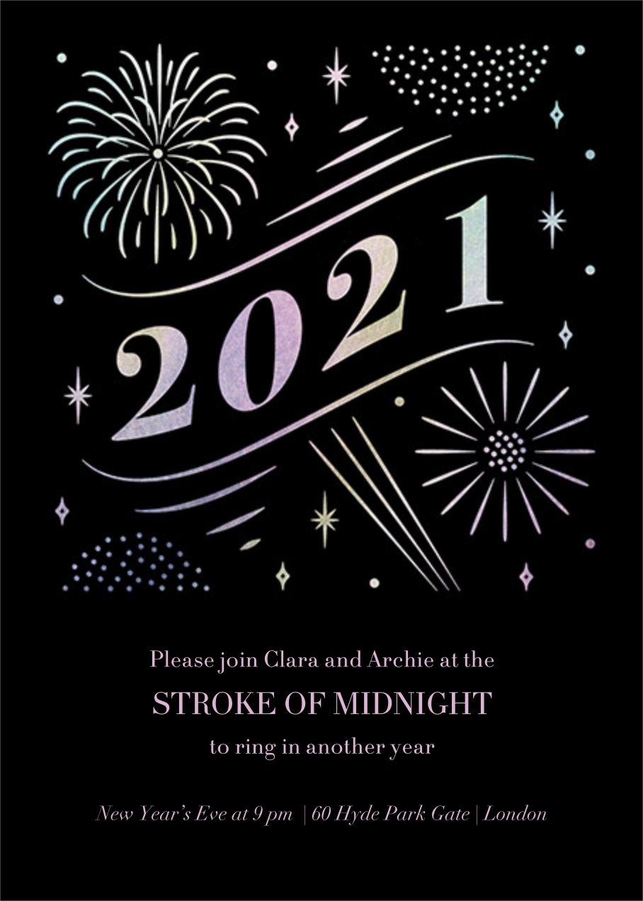A Glowing New Year (Tall) - Paperless Post - New Year's Eve