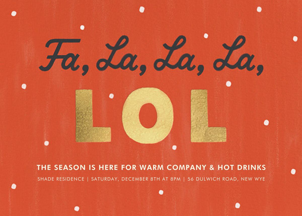 Fa La La La LOL - Paperless Post - Holiday party