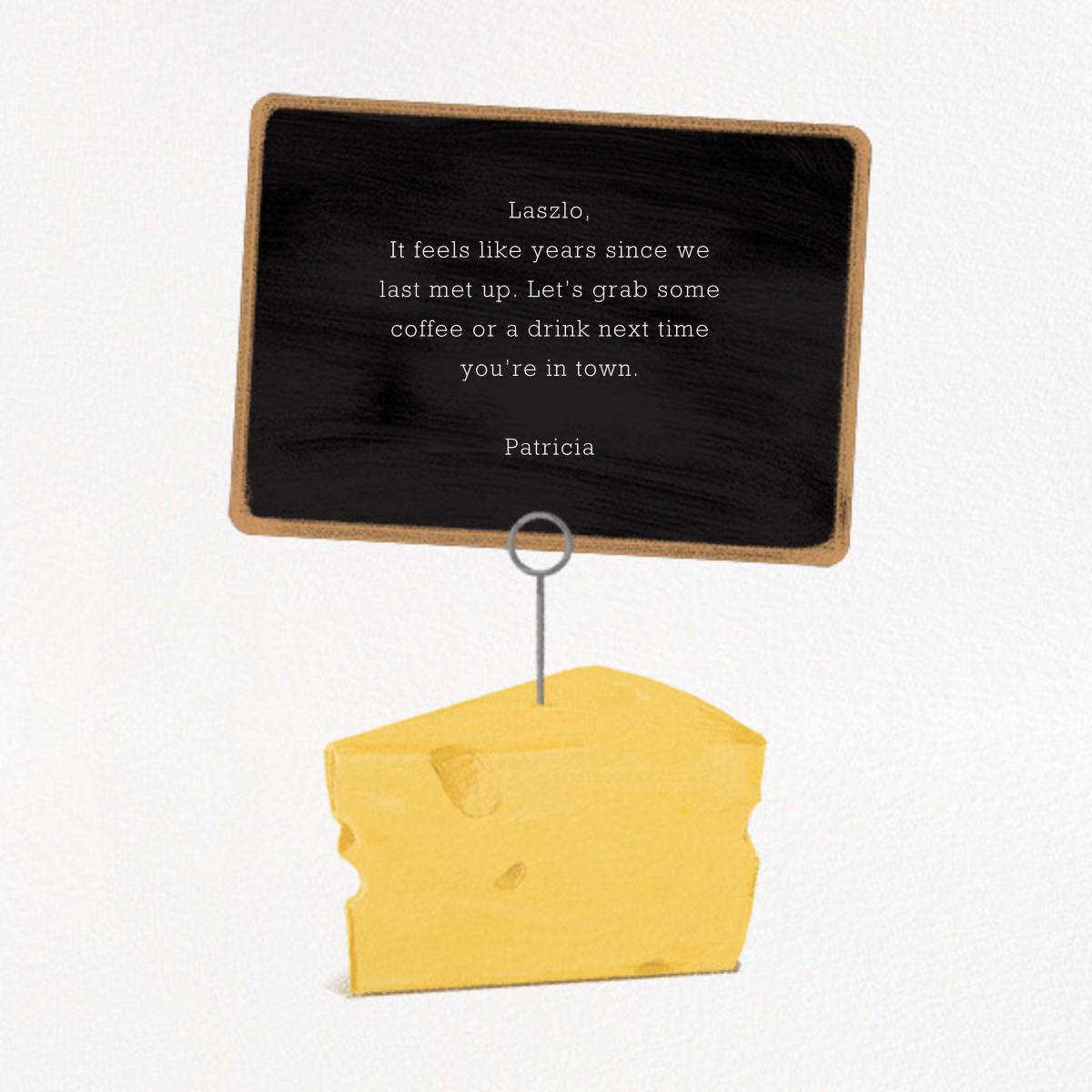 A Cheesy Card - Derek Blasberg - Just because - card back