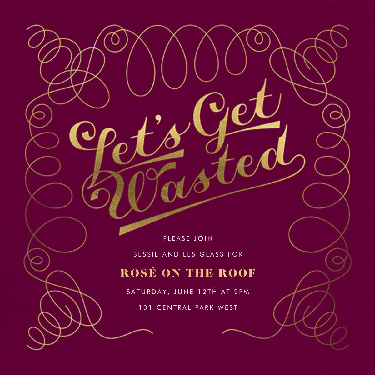 A Waste of an Invitation - Derek Blasberg - Cocktail party