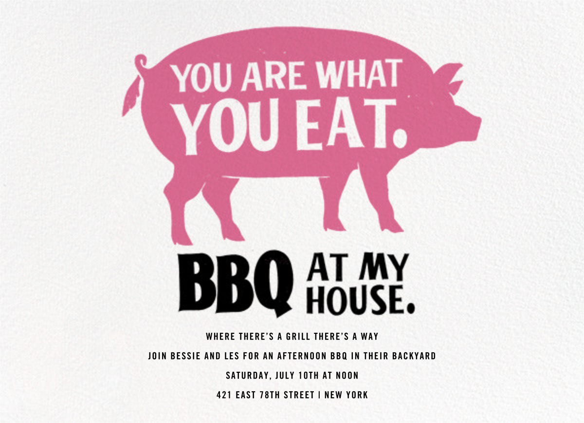 Pigging Out - Derek Blasberg - Barbecue
