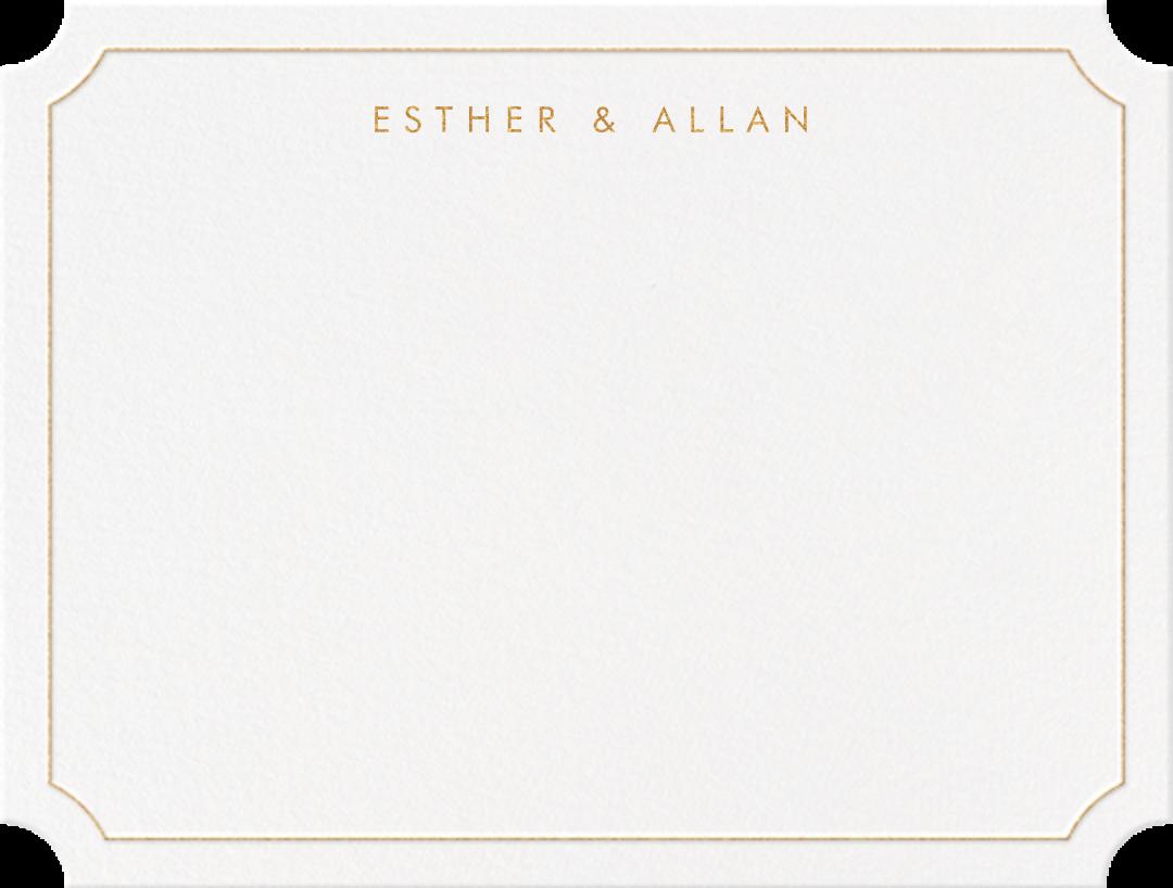 Erte (Thank You) - Medium Gold - Crane & Co. - Personalized stationery
