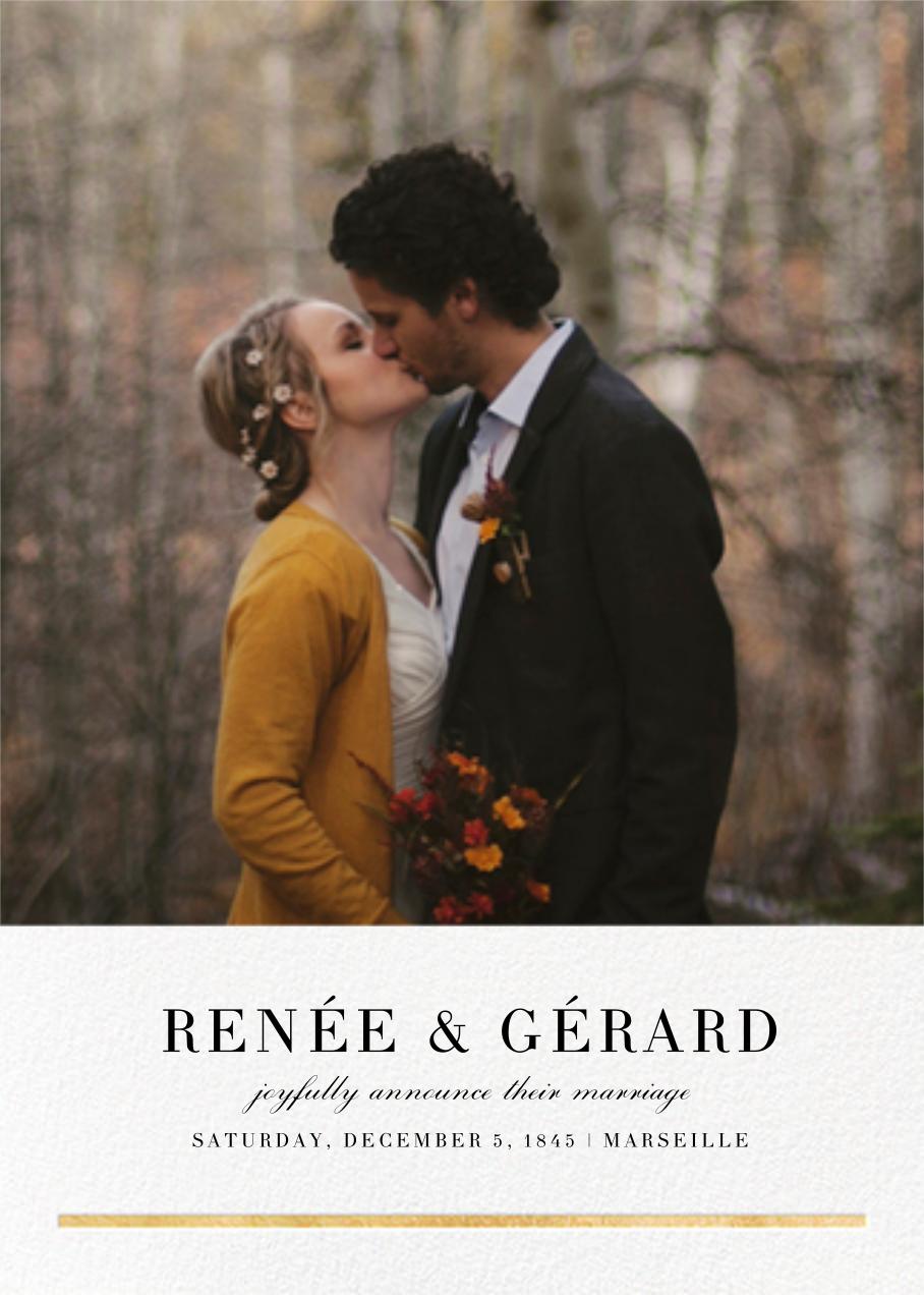 Underscore (Photo) - Gold - Paperless Post - Wedding
