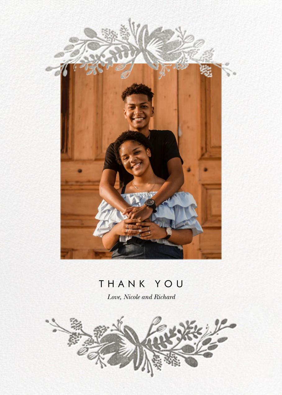 Floral Silhouette (Portrait Photo) - White/Silver - Rifle Paper Co. - Wedding