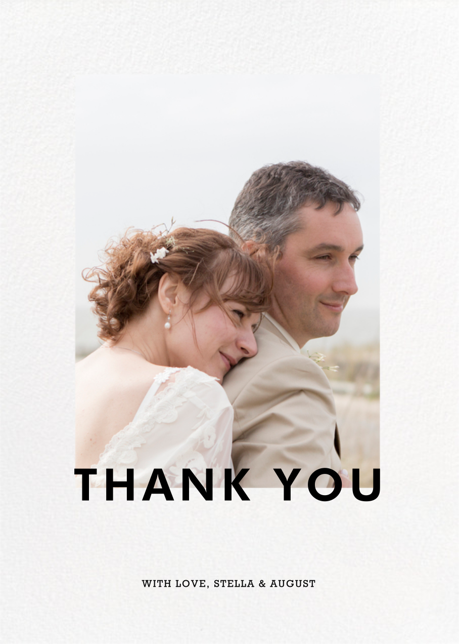 Vertical Overlap - Paperless Post - Thank you