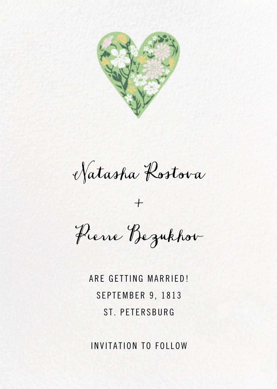 Heart Intaglio - Multicolor - Paperless Post - Save the date