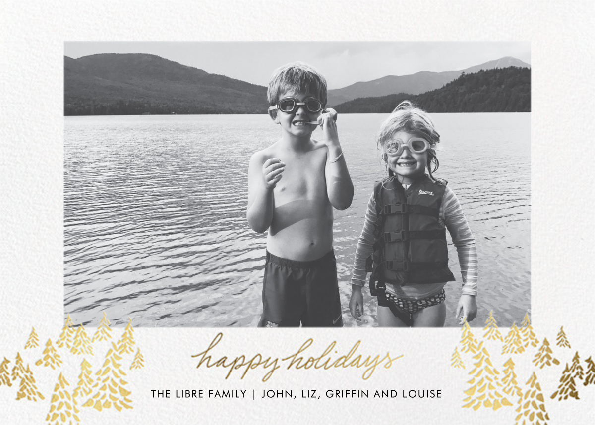 Happy Little Trees - Linda and Harriett - Holiday cards