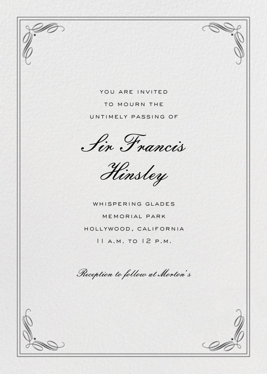 Regency (Tall) - Black - Paperless Post - Memorial service