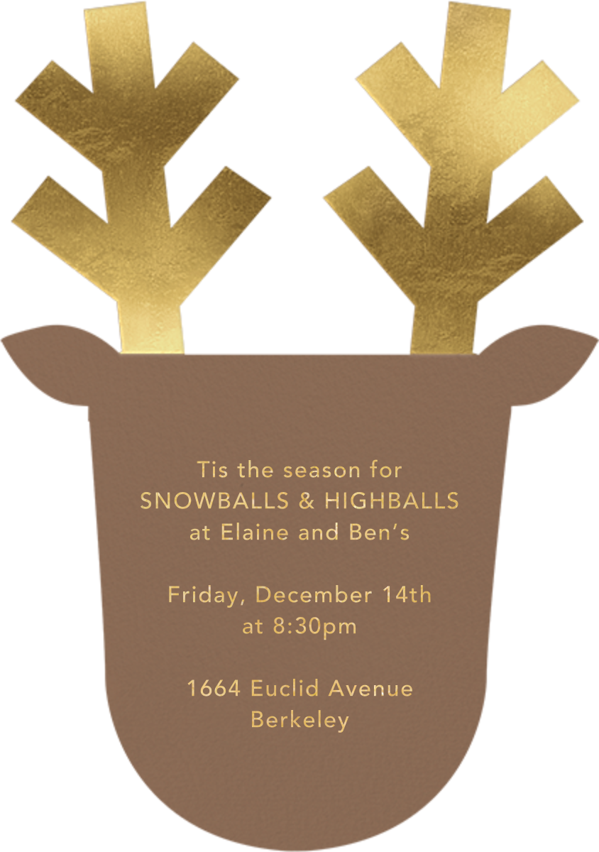 Golden Antlers - Meri Meri - Christmas party - card back