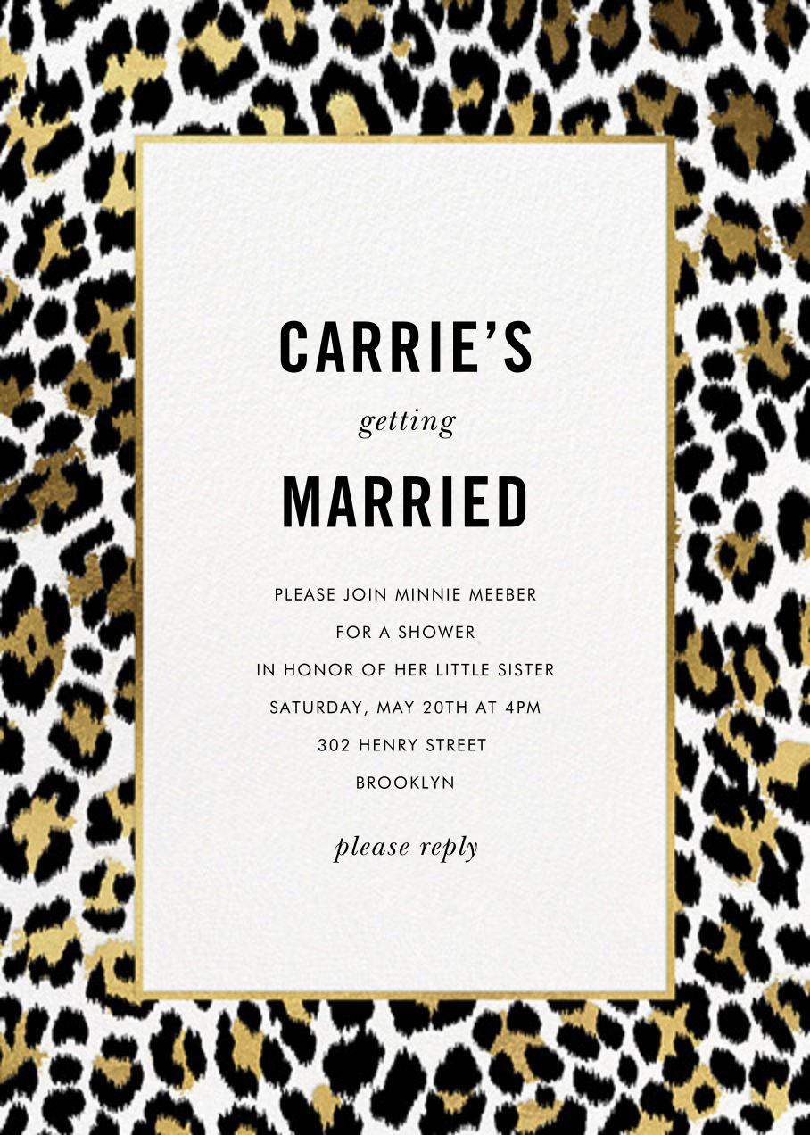 Leopard Border - White - kate spade new york - Bridal shower