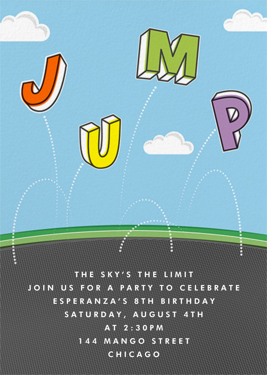 Airborne - Paperless Post - Kids' birthday