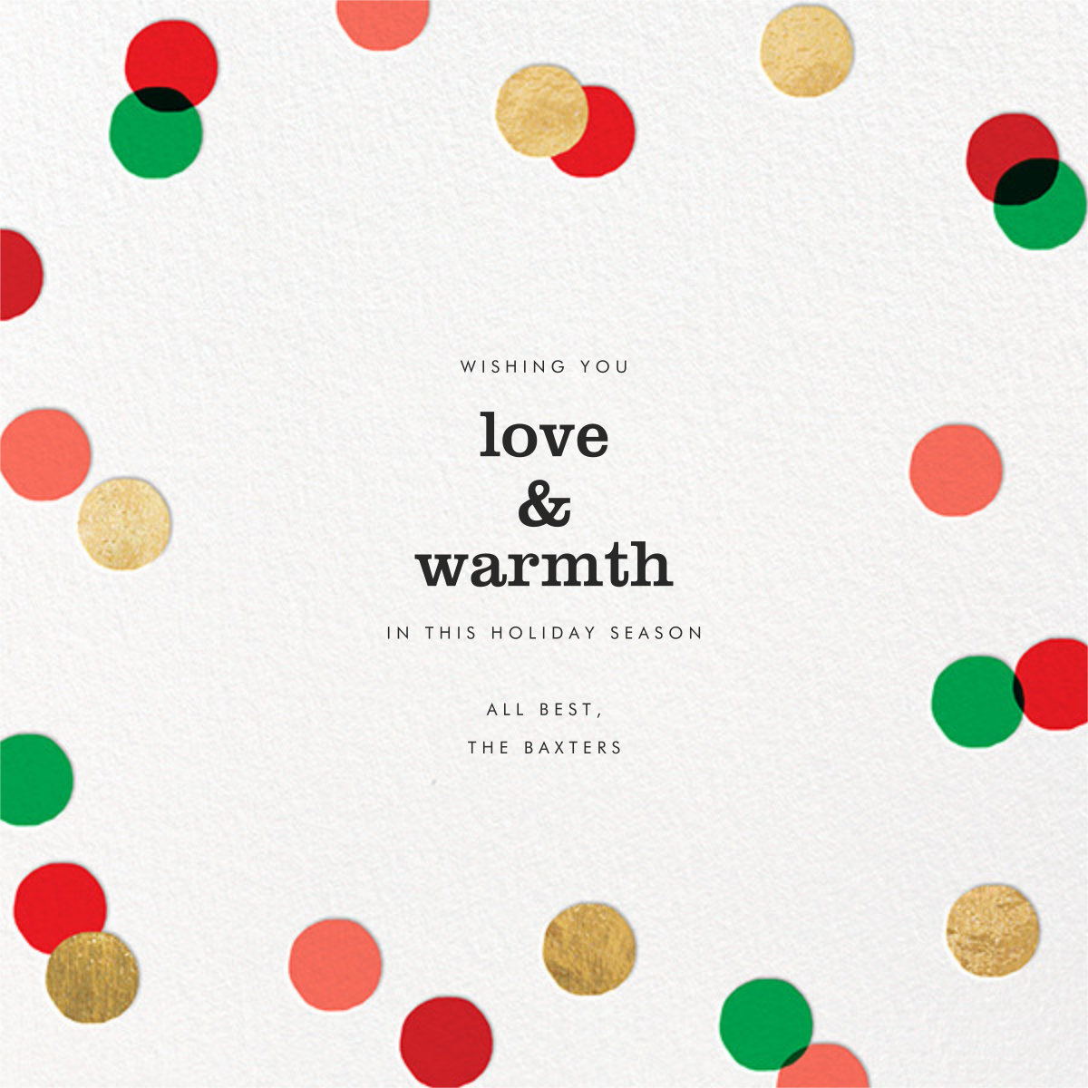 Carnaby (Photo) - Red/Green - Paperless Post - Holiday cards - card back