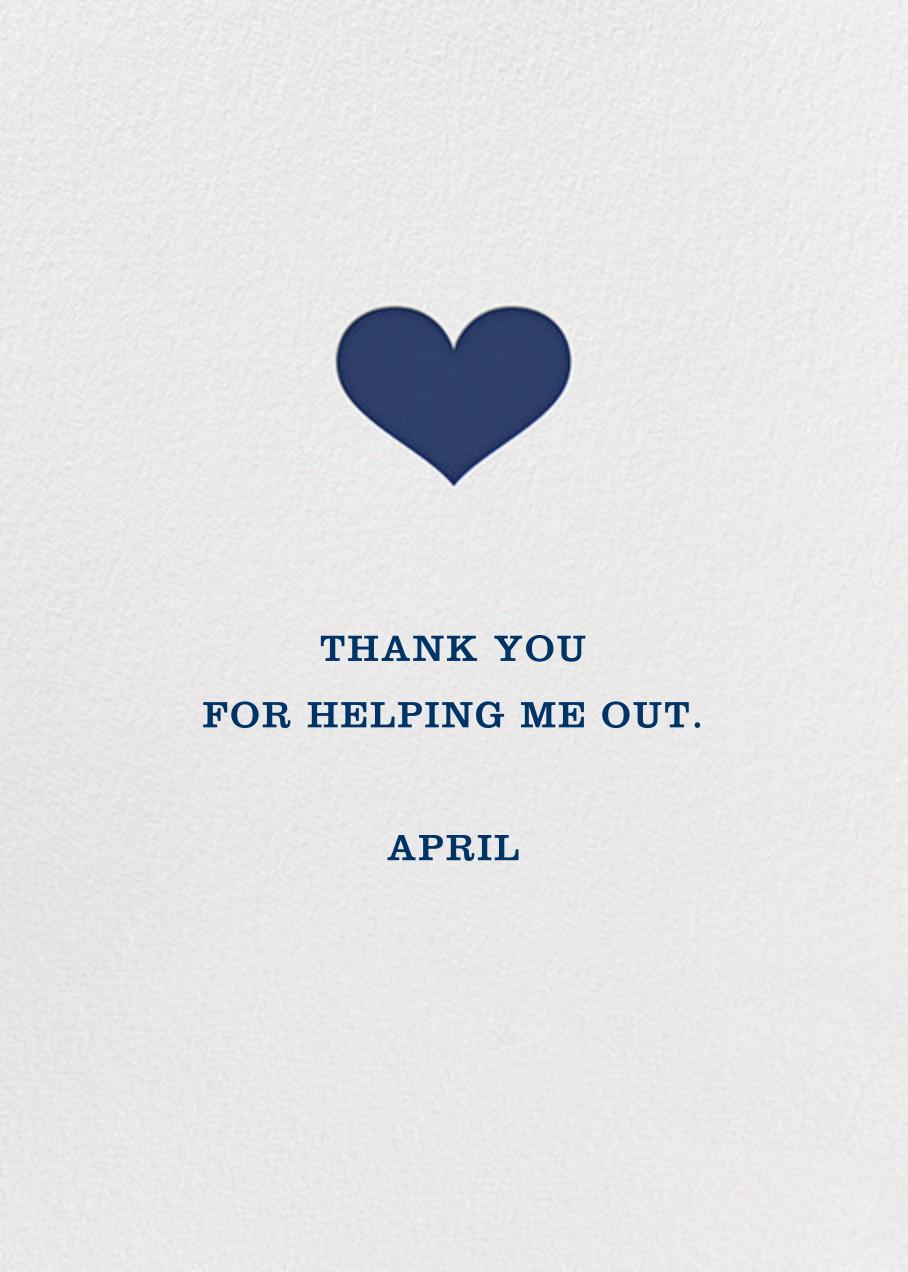 Glory of Love - Blue - Jonathan Adler - Thank you - card back