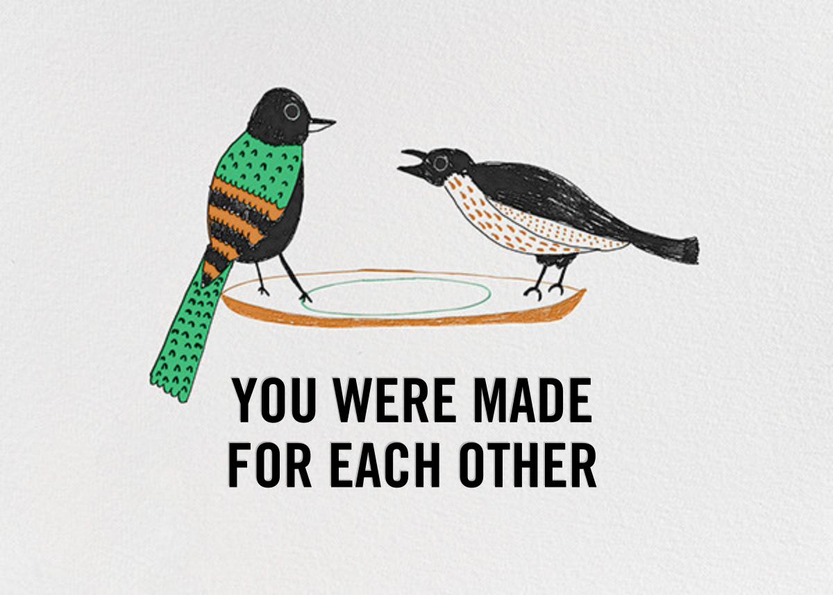 Bird Seed - Black - Mr. Boddington's Studio - Anniversary cards
