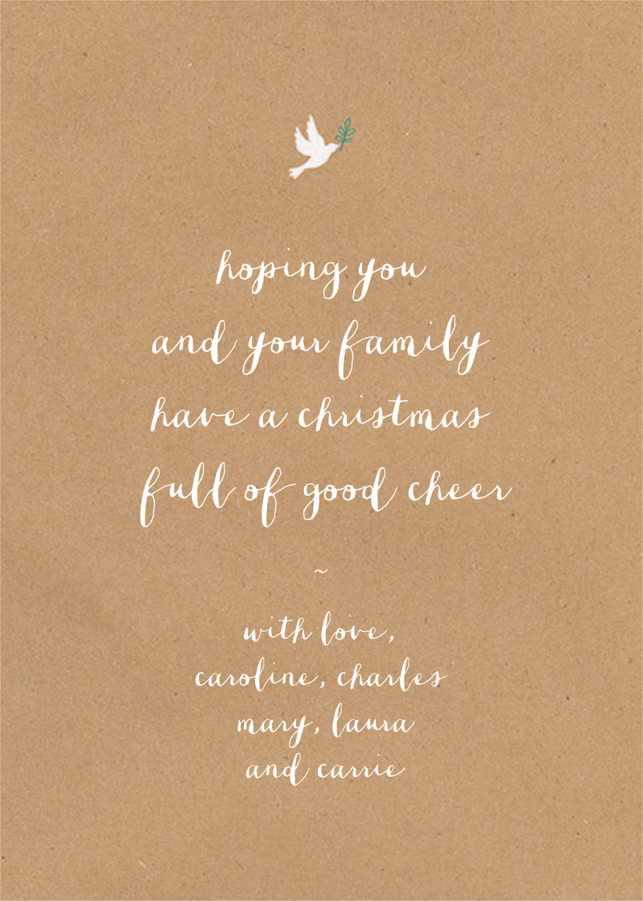 Written in Tinsel - Chipboard - Paperless Post - Back