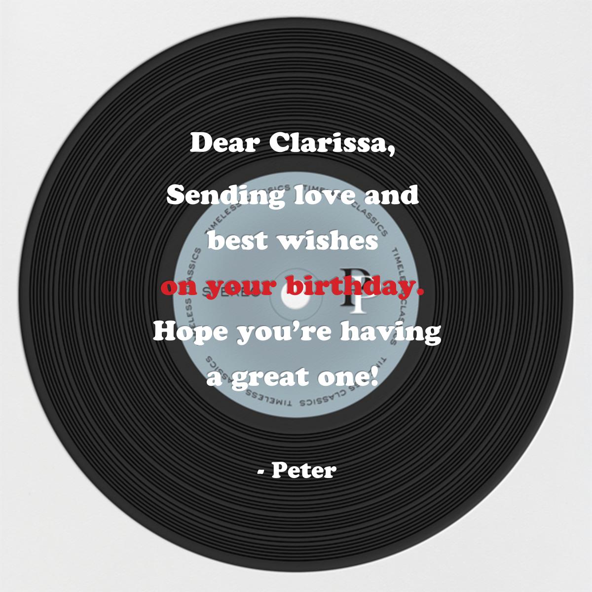 Birthday Album - Black - Paperless Post - Back