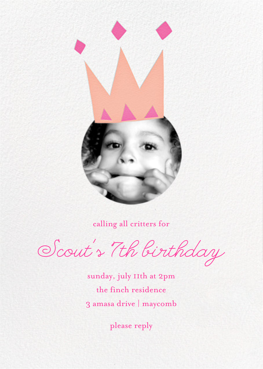 Royal Party (Photo) - Pink - Little Cube - Kids' birthday