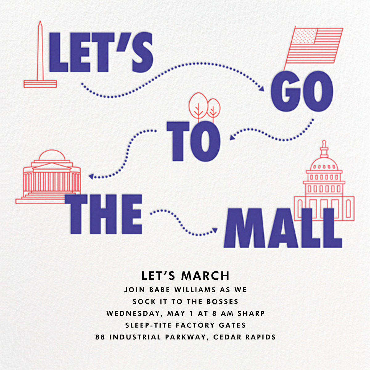 Let's Go to the Mall - Paperless Post - Election night