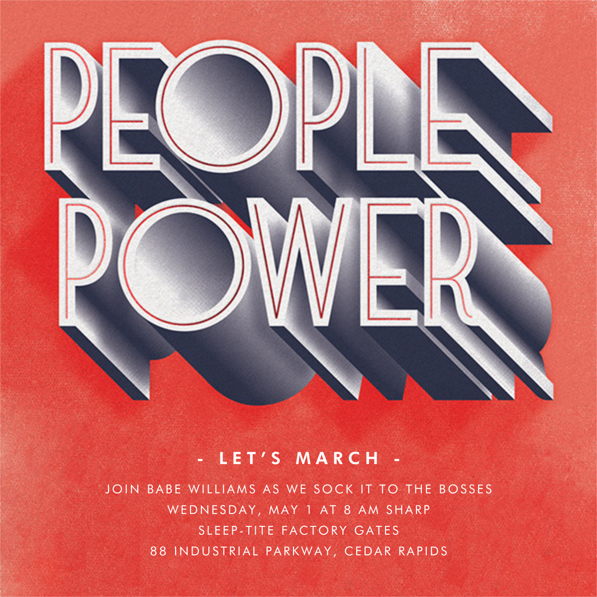 People Power - Paperless Post - Election night