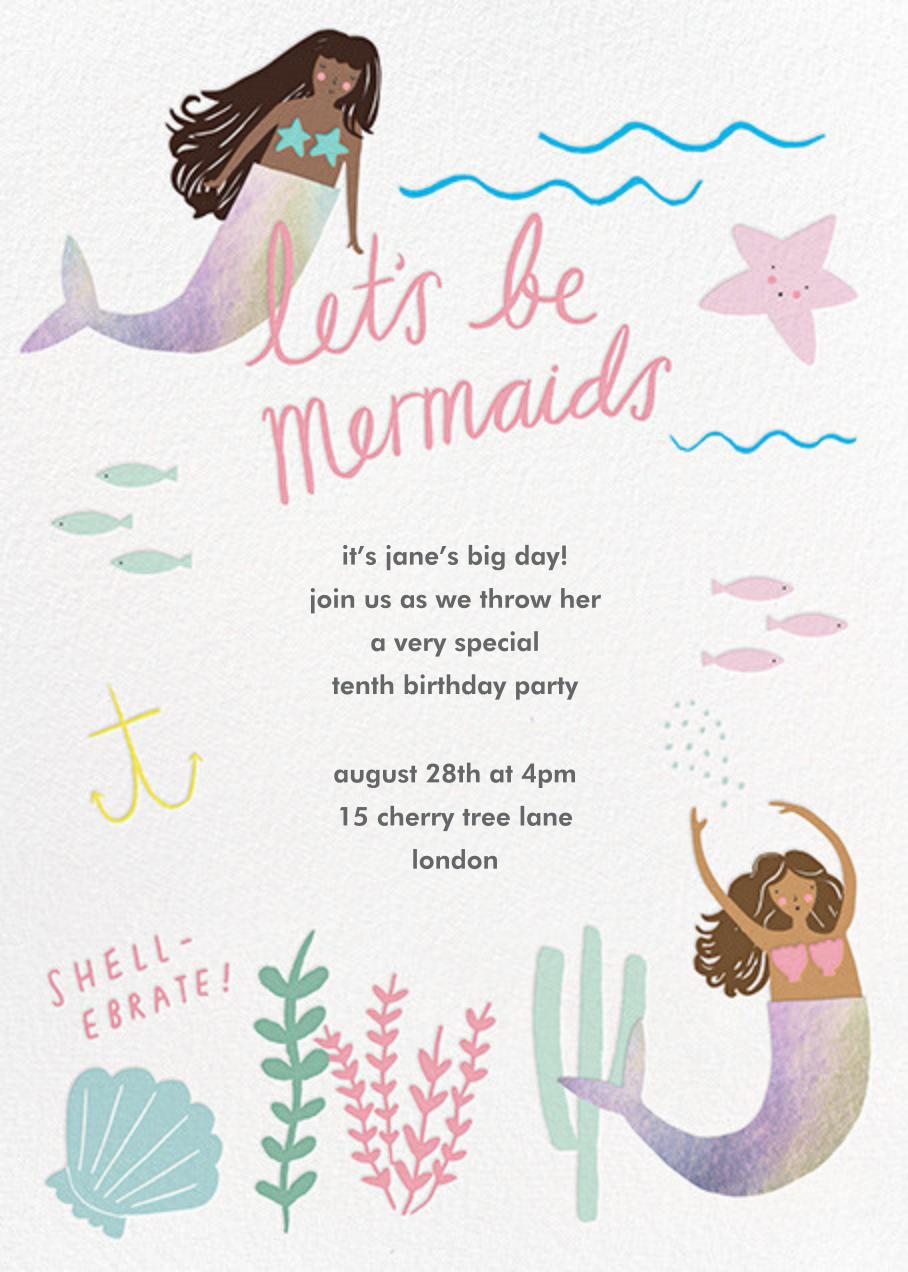 Mermaids in Waiting - Mocha - Meri Meri - Kids' birthday