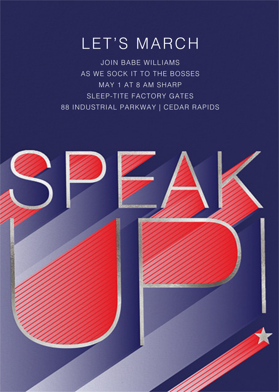 Speak Up - Paperless Post - Election night