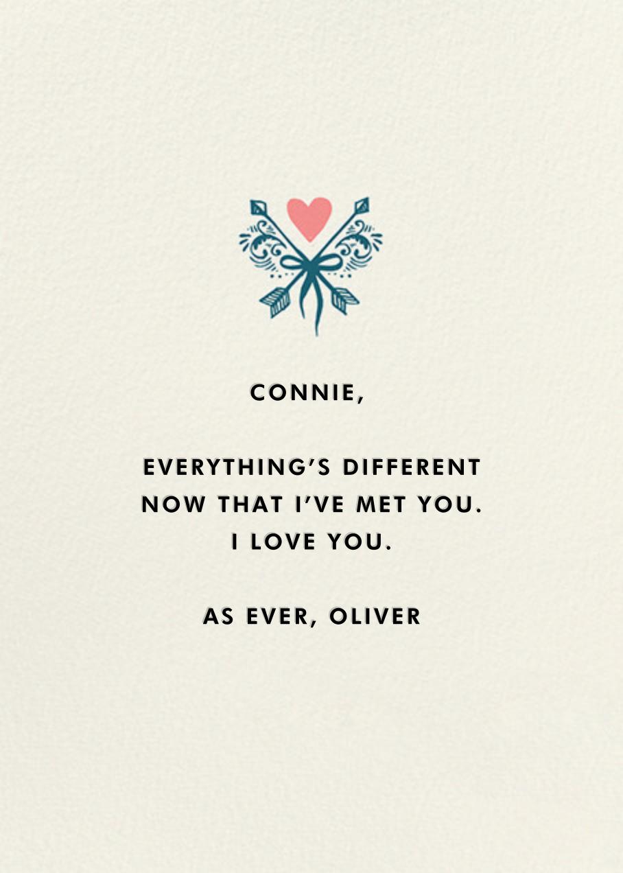 Cupid's Arrow - Hello!Lucky - Love cards - card back