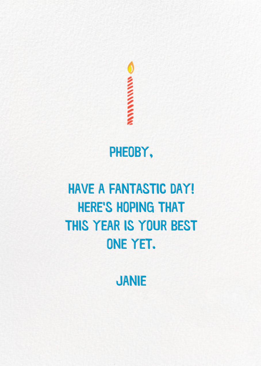 Birthday Blowout - Hello!Lucky - Birthday - card back