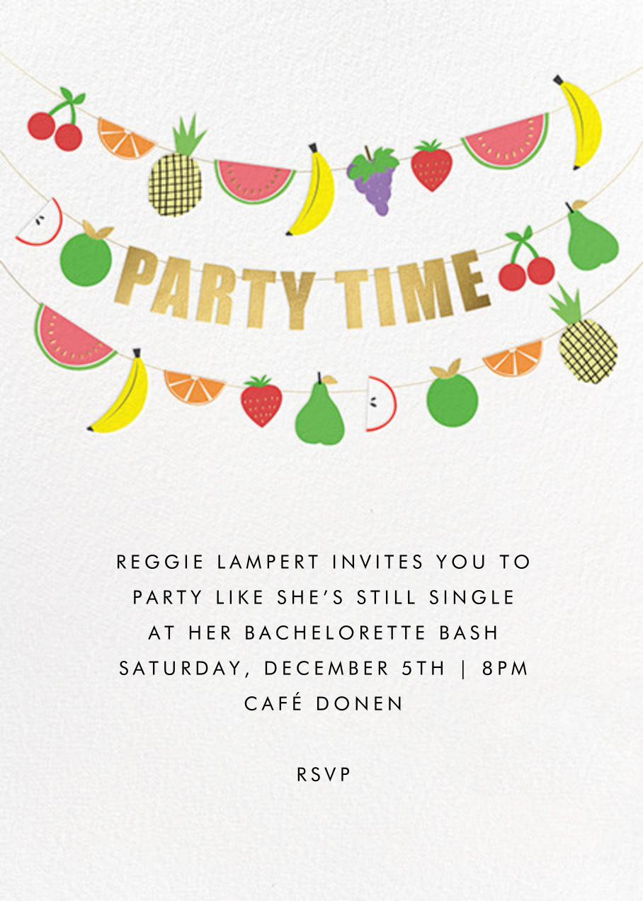 Fruit Bunting - Meri Meri - Bachelorette party
