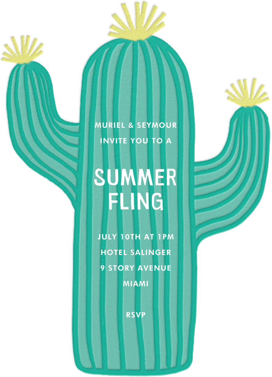 Cactus Hour - Meri Meri - Summer entertaining