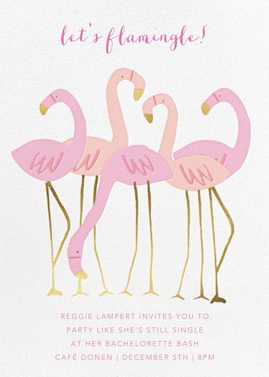 Let's Flamingle - Meri Meri - Bachelorette party