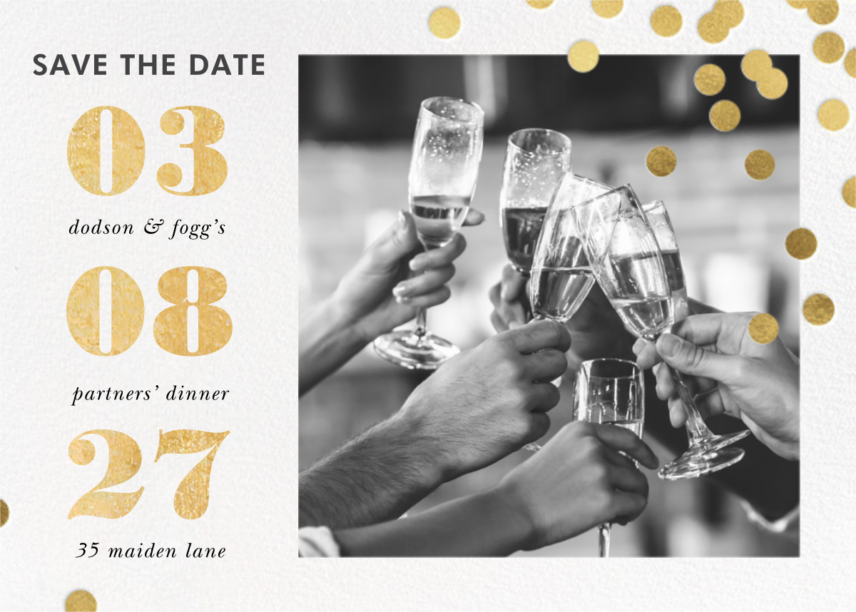 Confetti Ceremony - kate spade new york - Event save the dates