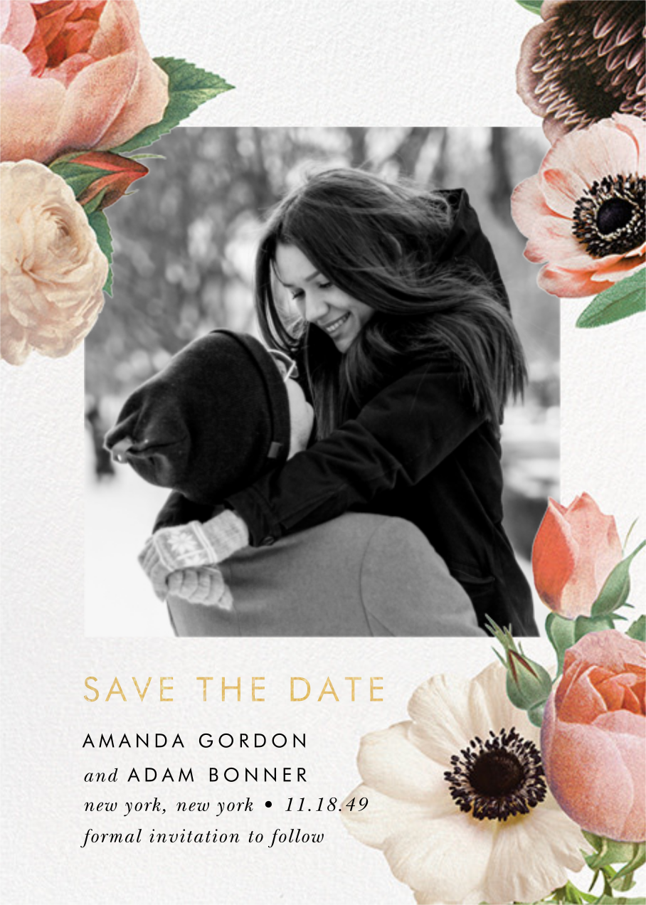 Floral Collage Photo - kate spade new york - Printable invitations