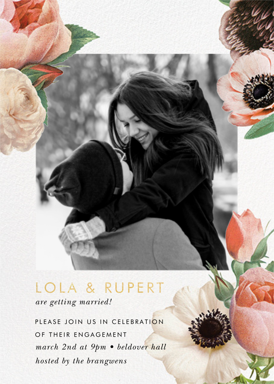 Floral Collage Photo - kate spade new york - Engagement party