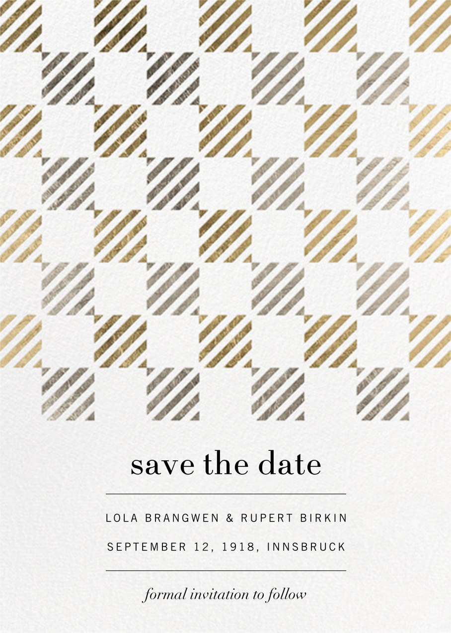Plait - Kelly Wearstler - Save the date