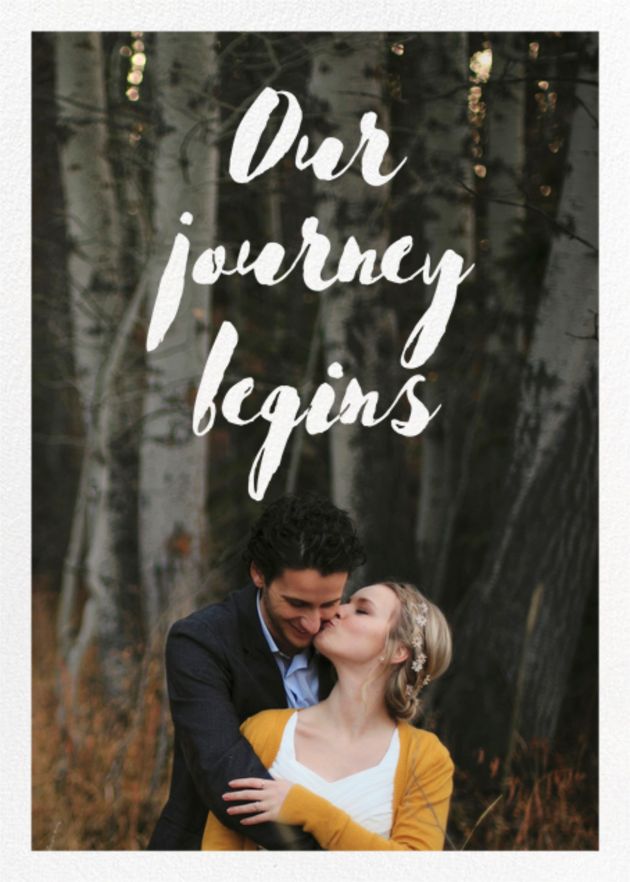 Our Journey Begins (Double Sided) - Paper Source - All