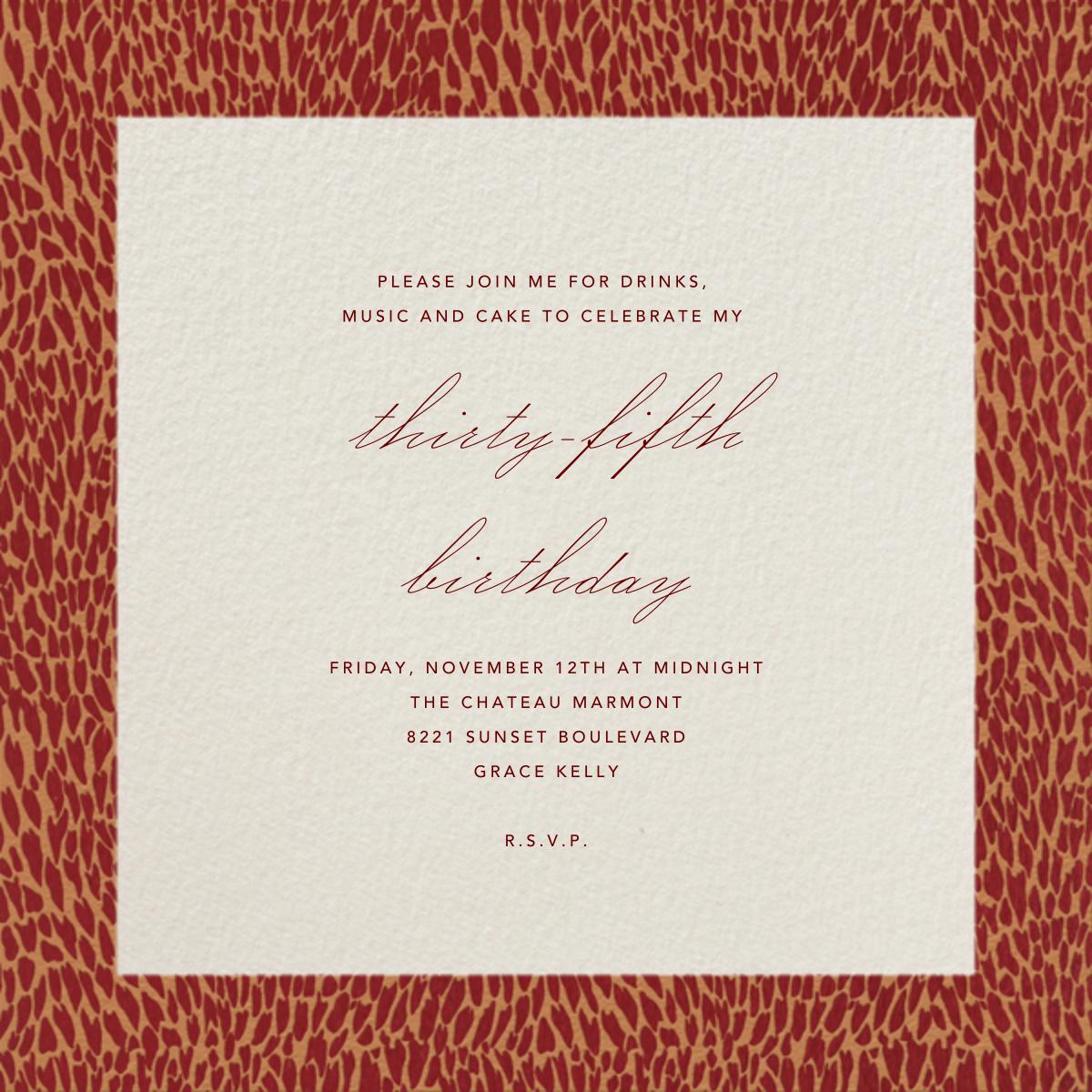 Oblong (Burgundy) - Paperless Post