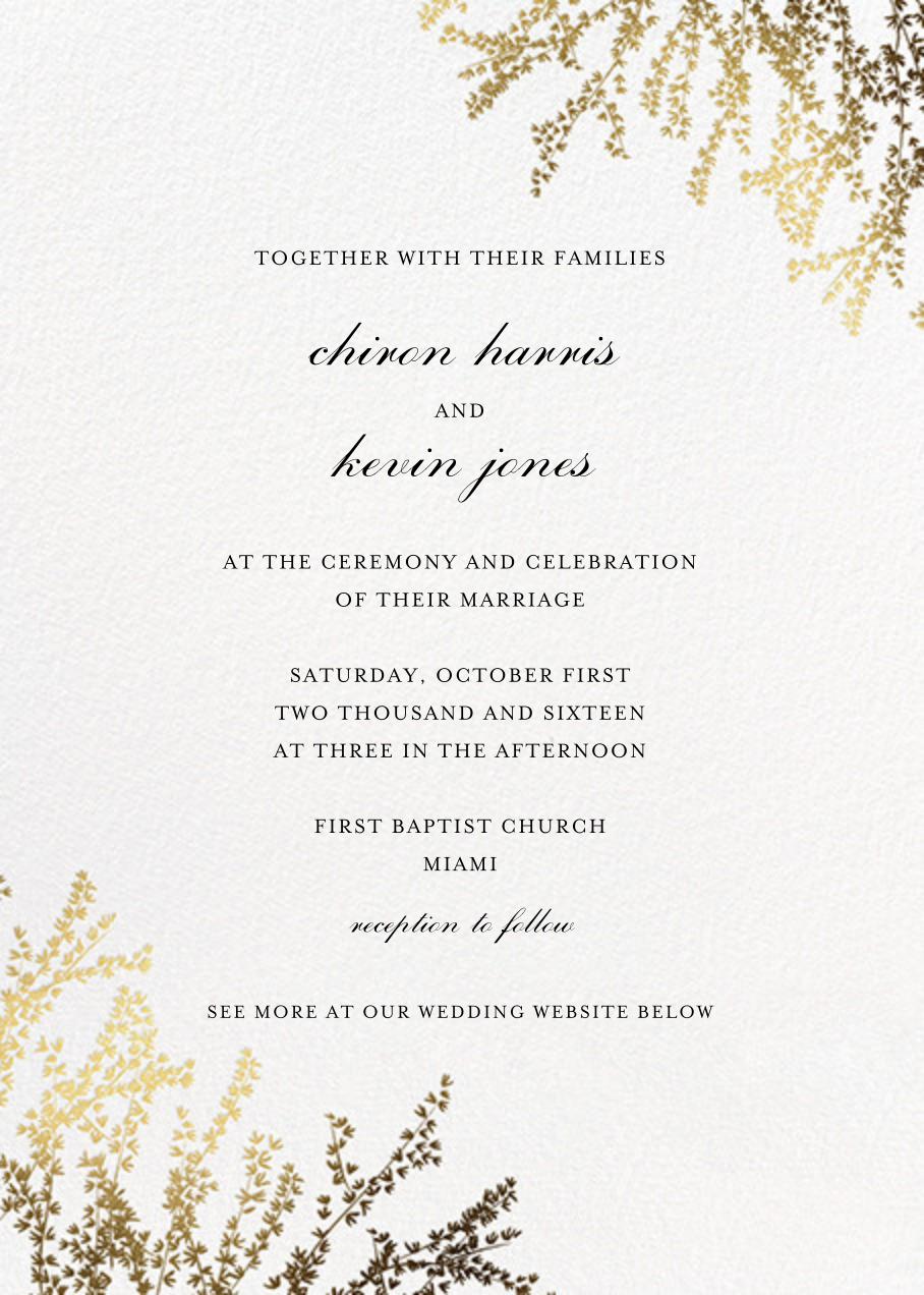 Forsythia (Invitation) - White - Paperless Post - All