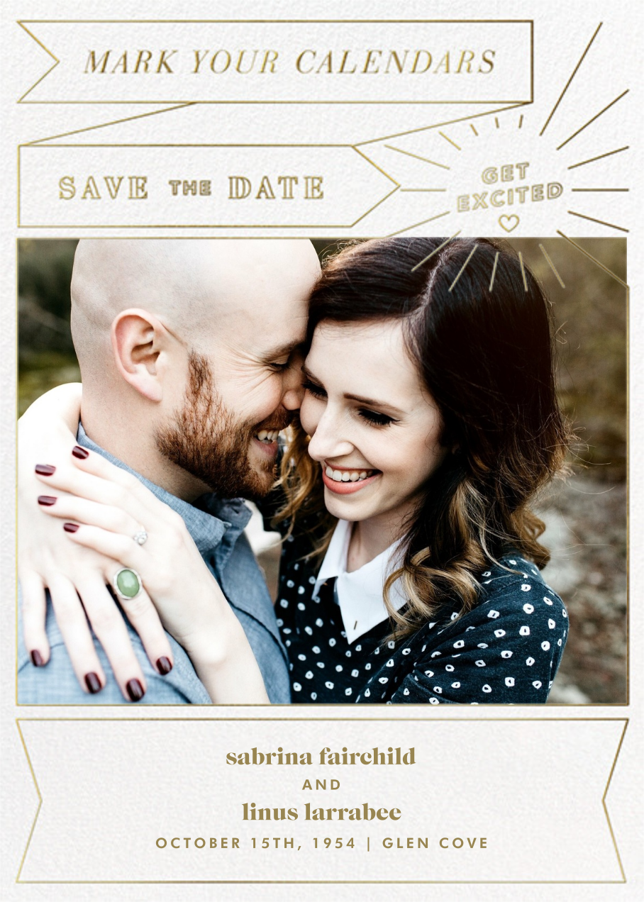 Chronology (Save the Date) - White - Paperless Post - Photo
