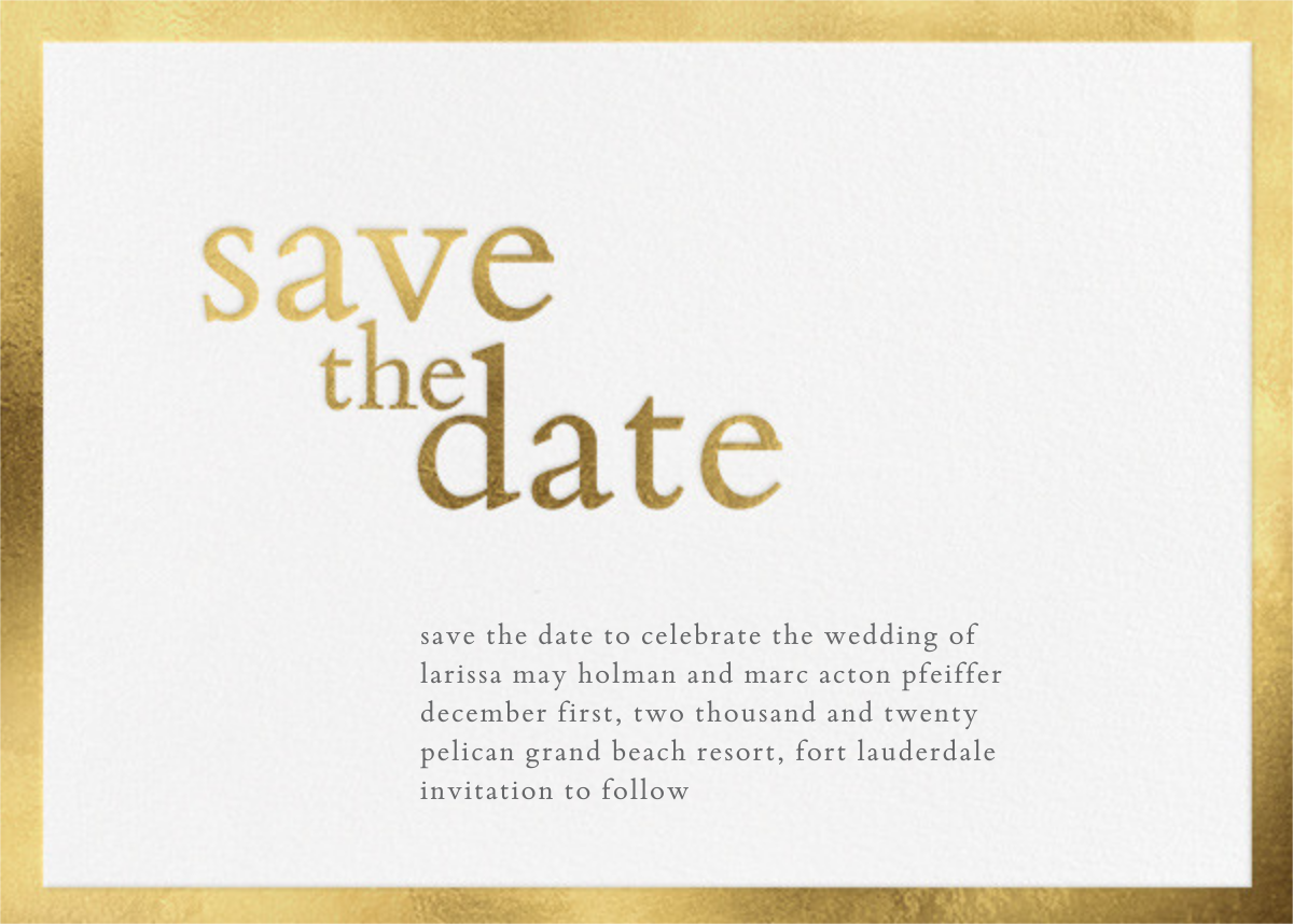 Vermeil (Save the Date) - Vera Wang - Save the date