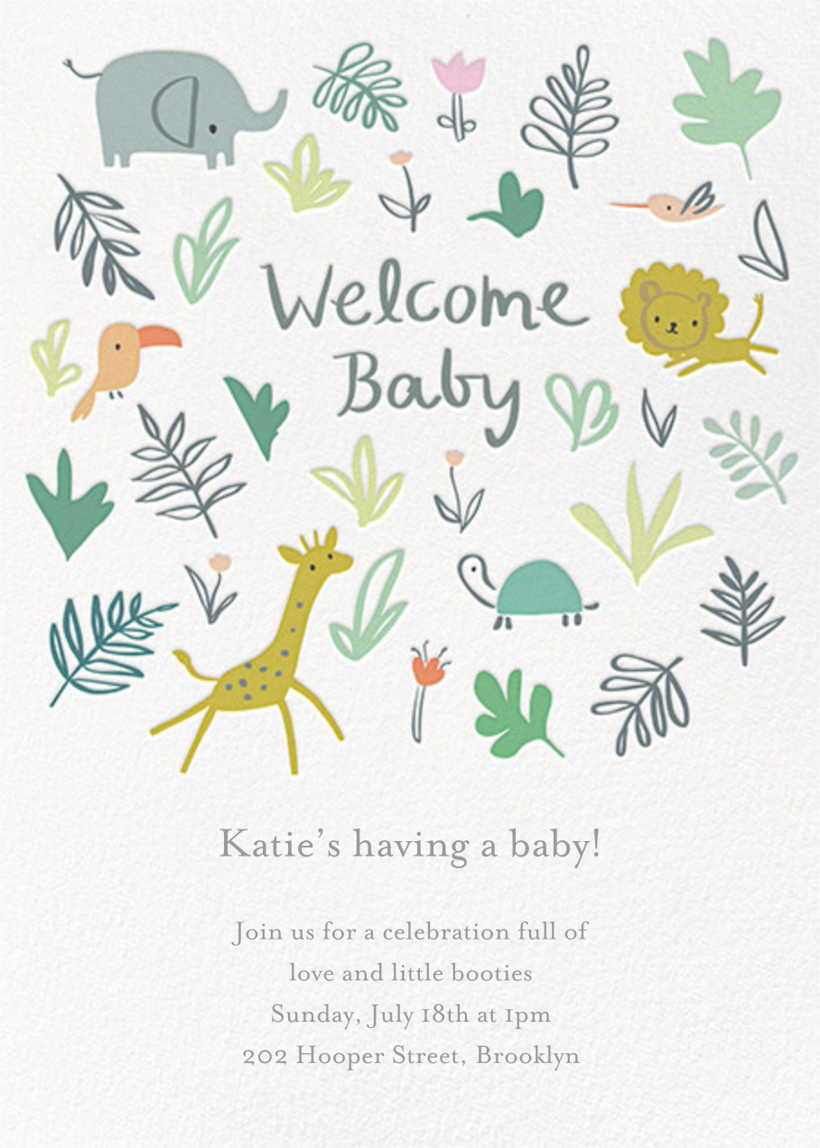 Jungle Love - Little Cube - Woodland baby shower invitations