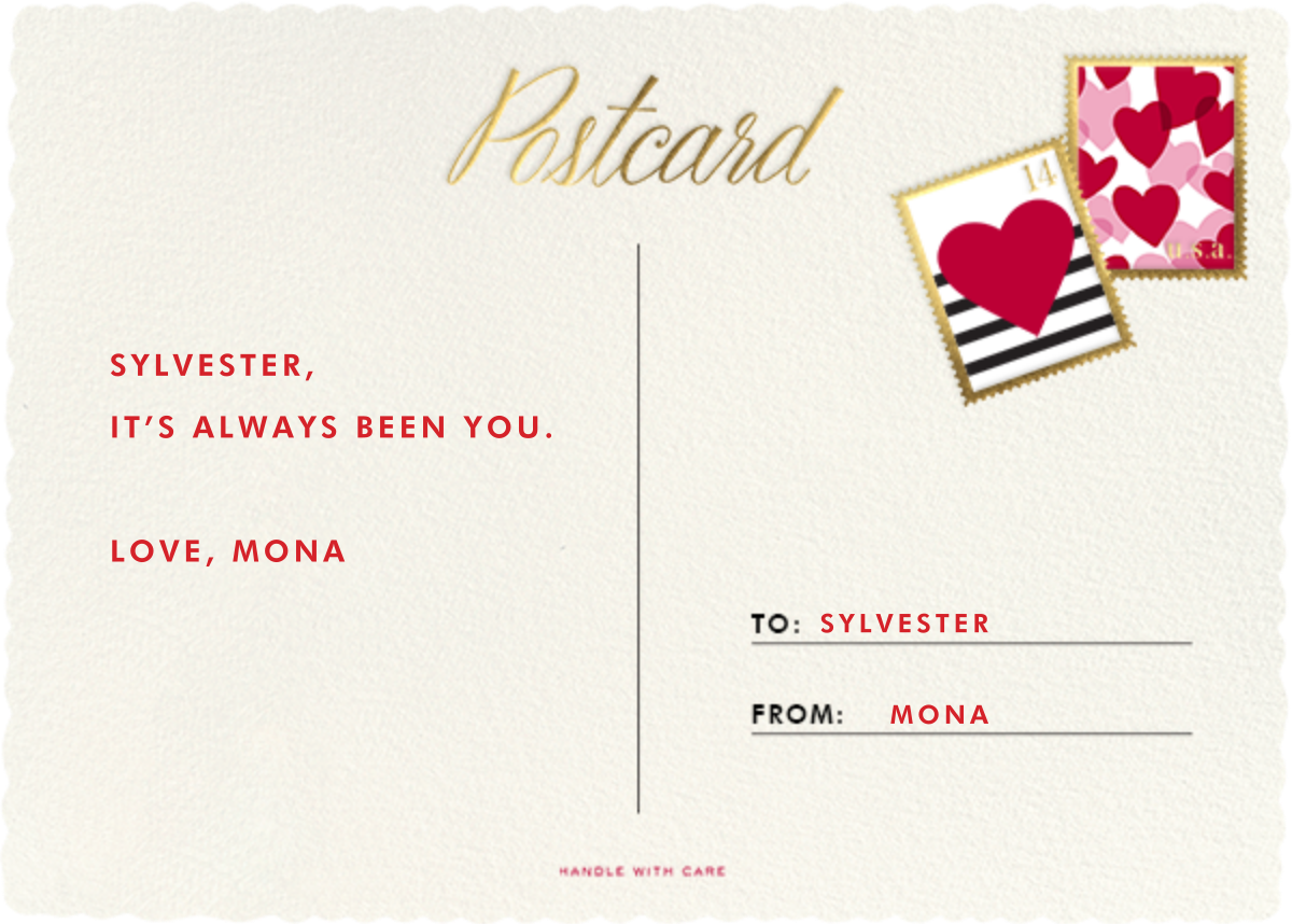 Mr. and Mrs. Postman - kate spade new york - Valentine's Day