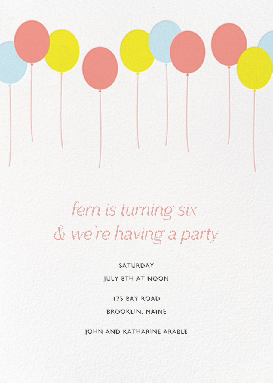Balloons - Multi - Paperless Post - Kids' birthday