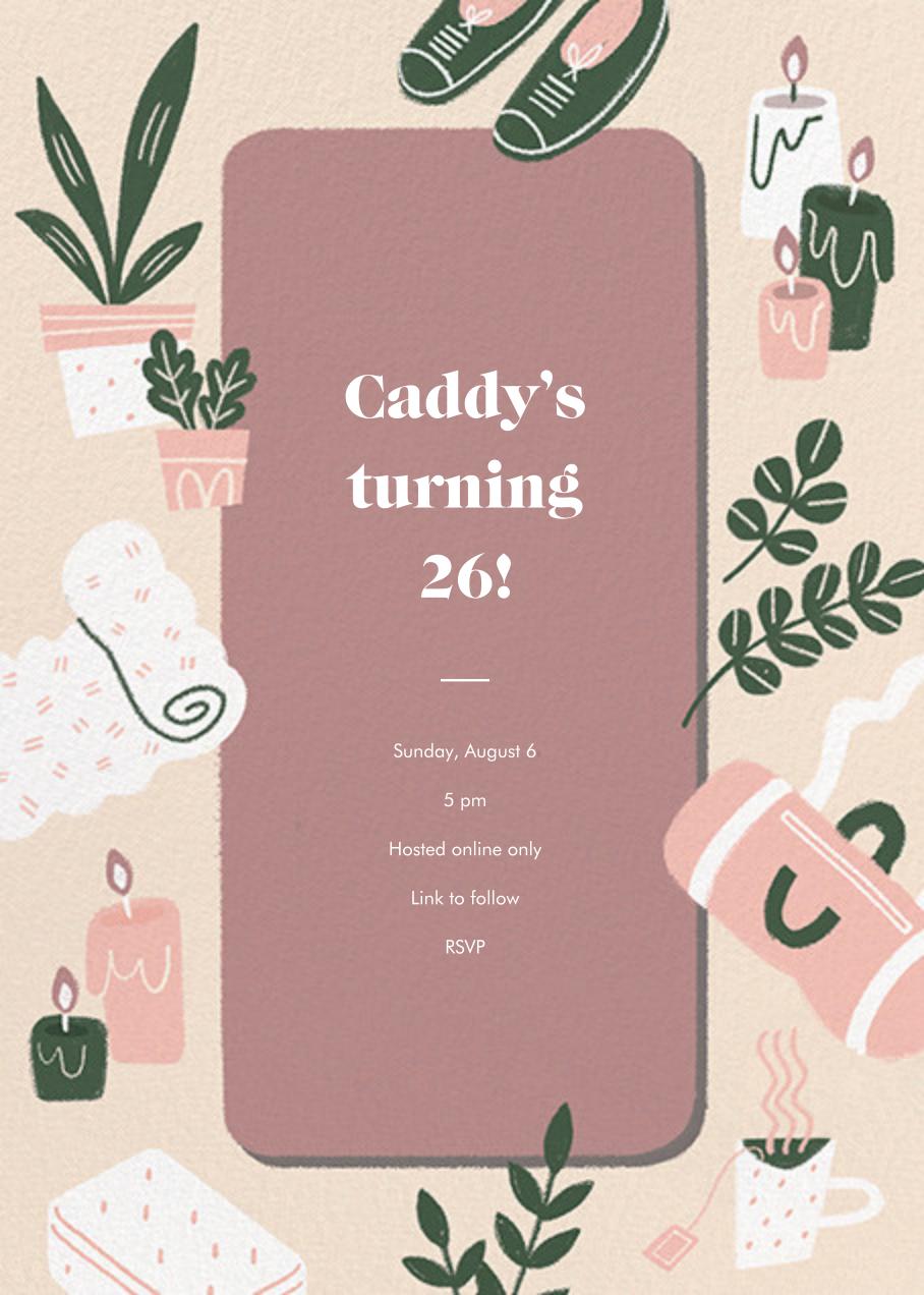 Stretch Goals - Tea Rose - Paperless Post - Adult birthday