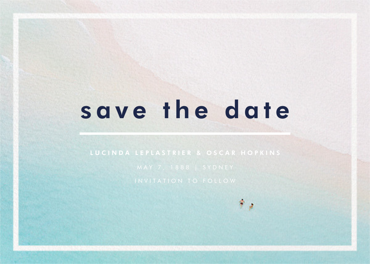 Swimmers - Gray Malin - Save the date